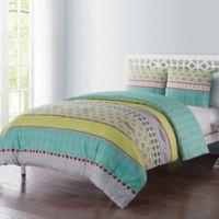 VCNY Dharma 5-Piece Full/Queen Comforter Set in Aqua