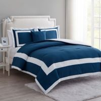 Vcny Home Avondale 4 Piece King Comforter Set In Blue