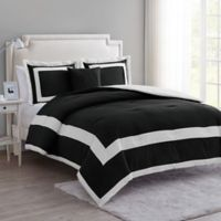 VCNY Home Avondale 4-Piece King Comforter Set in Black
