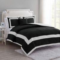 VCNY Home Avondale 4-Piece Queen Comforter Set in Black