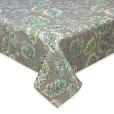 Elegant Tommy Bahama® Tahitian Jacobean 60 Inch X 84 Inch Oblong Tablecloth In Grey