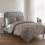 VCNY Home Julie 3-Piece King Comforter Set in Brown