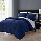 VCNY Home Lincoln 7-Piece Full Down Alternative Comforter Set in Navy