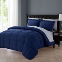 VCNY Home Lincoln 5-Piece Twin XL Down Alternative Comforter Set in Navy