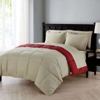 VCNY Home Lincoln 7-Piece Full Down Alternative Comforter Set in Red
