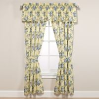 Laura Ashley® Linley 84-Inch Rod Pocket Window Curtain Panel Pair in Light Yellow