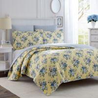 Laura Ashley® Linley Full/Queen Quilt Set in Light Yellow