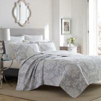 Laura Ashley® Venetia Full/Queen Quilt Set in Grey
