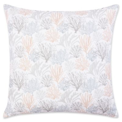 laura ashley coral sea european pillow sham in light grey set of 2