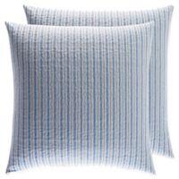 Laura Ashley® Linley European Pillow Shams in Blue (Set of 2)
