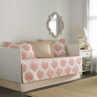 Laura Ashley® Coral Coast Daybed Bedding Set in Coral - Buy Daybed Bedding Sets From Bed Bath & Beyond