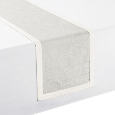 Waterford® Linens Peony 90 Inch Table Runner In Taupe