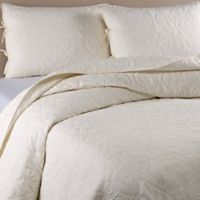 Laura Ashley® Felicity Full/Queen Quilt Set in Ivory