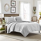 Laura Ashley® Felicity King Quilt Set in Light Grey