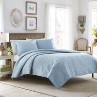 Laura Ashley® Felicity King Quilt Set in Light Blue
