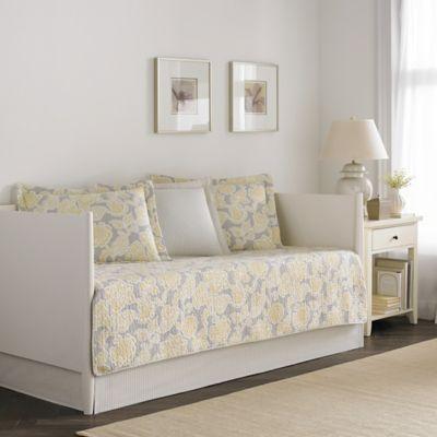 laura ashley joy daybed bedding set in greyyellow