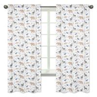 Sweet Jojo Designs Woodland Animals 84-Inch Rod Pocket Window Curtain Panels (Set of 2)