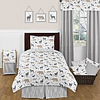 Sweet Jojo Designs Woodland Animals 4-Piece Twin Comforter Set