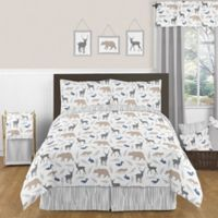 Sweet Jojo Designs Woodland Animals 3-Piece Full/Queen Comforter Set