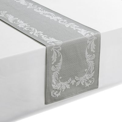 Merveilleux Waterford® Linens Celeste 72 Inch Table Runner In Silver