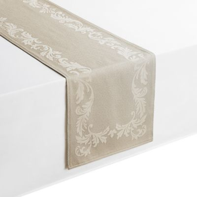 Waterford® Linens Celeste 90 Inch Table Runner In Taupe