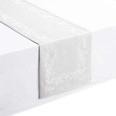Waterford® Linens Celeste 90 Inch Table Runner In White