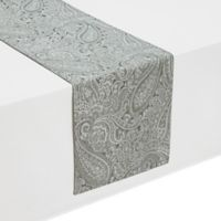 Waterford® Linens Esmeralda 72-Inch Table Runner in Platinum