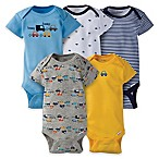 Gerber® Onesies® Size 6-9M 5-Pack Car Short Sleeve Bodysuit