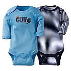 Gerber® ONESIES® Size 18M 2-Pack Cute Car Long Sleeve Bodysuit Set in Blue