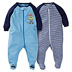 Gerber® Size 3-6M 2-Pack Zip-Front Car Footies