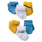 Gerber® Size 3-6M 6-Pack Cars Cotton Blend Socks