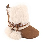 Jessica Simpson Size 3-6M Faux Fur Cuff Boot in Brown