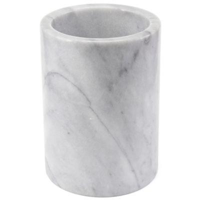 Artisanal Kitchen Supply® Marble Utensil Crock In White