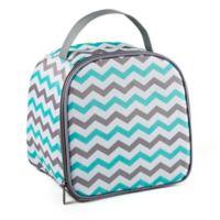 Fit & Fresh® 10-Piece Gabby Smart Potion Lunch Bag Set in Aqua/Grey Chevron