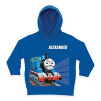 Thomas the Tank Engine Tracks Size 5/6 Pullover Hoodie in Blue