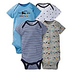 Gerber® Onesies® Size 24M 4-Pack Car Short Sleeve Bodysuit