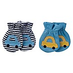 Gerber® Size 0-3M 2-Pack Cars Mittens in Blue