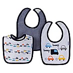 Gerber® 3-Pack Cars Bibs in Blue