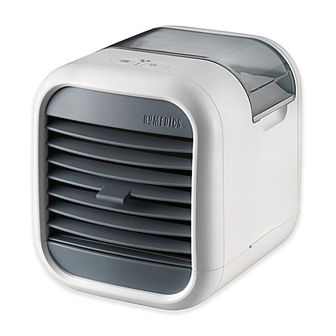 Homedics mychill small personal space cooler in white for Small room portable air conditioners