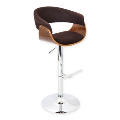 Lumisource Vintage Mod Adjustable Swivel Bar Stool In Espresso