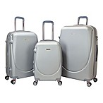 Travelers Club® Barnet 3-Piece Dual-Wheeled Expandable Spinner Suitcase Set in Silver