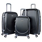 Travelers Club® Barnet 3-Piece Dual-Wheeled Expandable Spinner Suitcase Set in Black