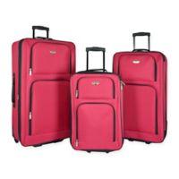 Travelers Club® Genova 3-Piece Luggage Set in Red