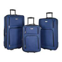 Travelers Club® Genova 3-Piece Luggage Set in Navy