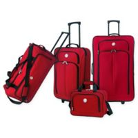 Travelers Club® Genova 4-Piece Wheeled Luggage Set in Red