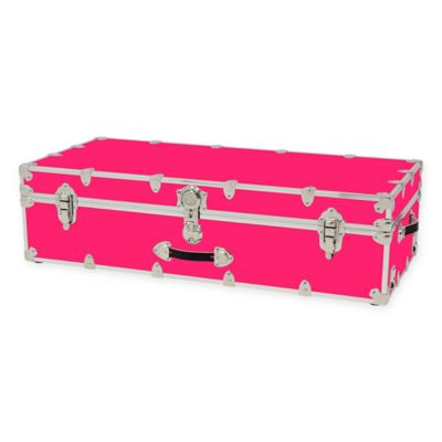 Rhino Trunk And Case™ Armor Trundle Trunk For Dorm In Neon Pink