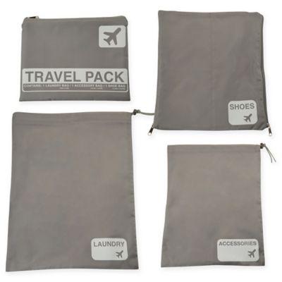 423a5cbc8c53 Latitude 40°N® Jet Set 4-Piece Travel Laundry Bag Set