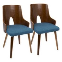 LumniSource Ariana Chairs in Blue (Set of 2)