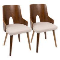 LumniSource Ariana Chairs in Beige (Set of 2)