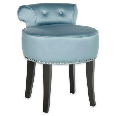 vanity chair. Safavieh Georgia Vanity Stool in Teal Buy Stools from Bed Bath  Beyond